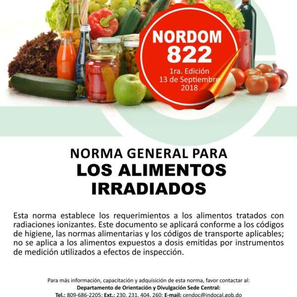 NORDOM-822 Norma general para los alimentos irradiados