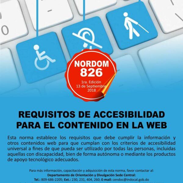 NORDOM-829 Requisitos accesibilidad para el contenido en la WEB