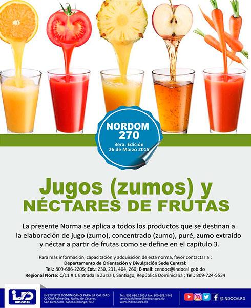 NORDOM-270 Jugos (Zumos) y néctares de frutas