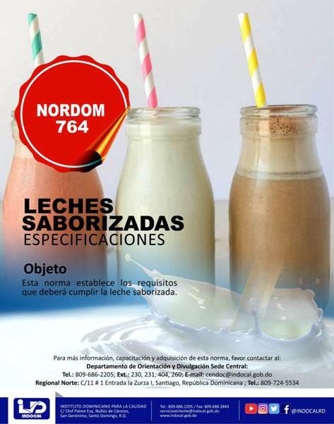 NORDOM-764 Leches saborizadas especificaciones